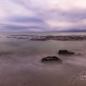 Seascape on cloudy day
